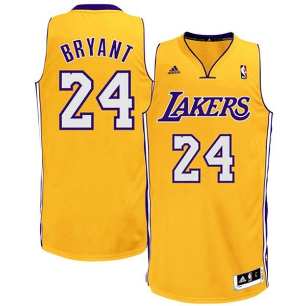 Camiseta Kobe Bryant 24. Los Angeles Lakers Amarillo ...