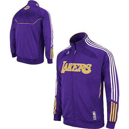 nuevo diseño bueno venta caliente más nuevo Chaqueta Adidas Lakers bordada
