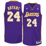 Camiseta Kobe Bryant. Los Angeles Lakers. Morada