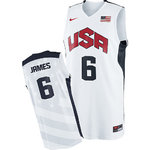 Camiseta USA 2012. Lebron James. Blanco