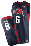 Camiseta USA 2012 Londres Lebron James - Azul
