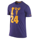 Camiseta Sheat 24 Kobe Bryant. Morado