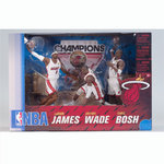 Pack 3 figuras Campeones NBA Miami Heat. James/Wade/Bosh McFarlane