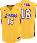 Camiseta Pau Gasol Los Angeles Lakers Replica