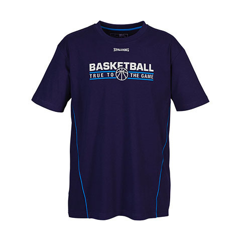 Camiseta Spalding Team T-Shirt Navy - Azure Blue