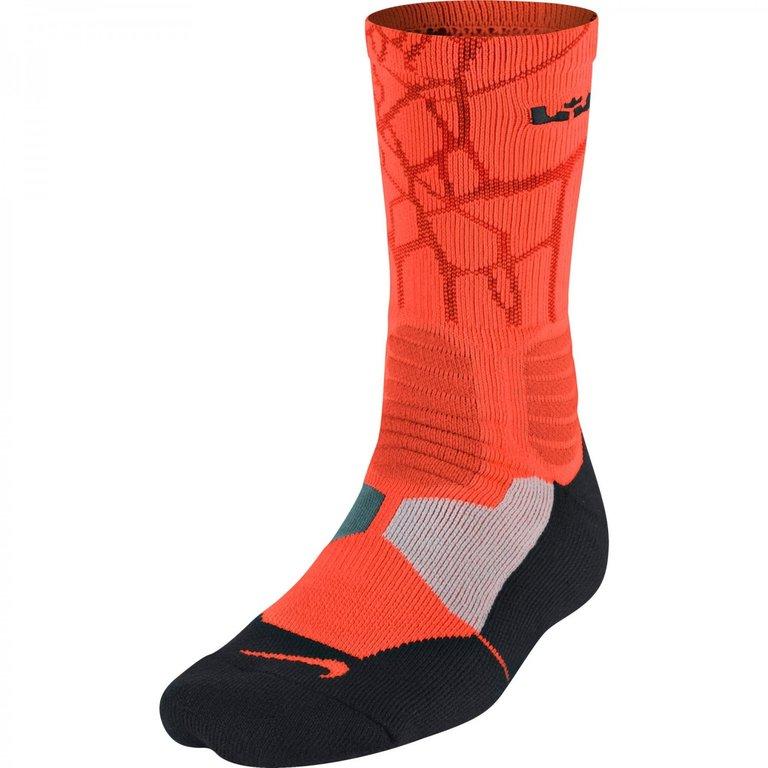 wholesale dealer 15762 0e373 Calcetines Nike Lebron Hyper Elite Crew Naranjas ...