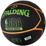 Balón Spalding NBA Highlight outdoor. Goma. Negro y verde neón