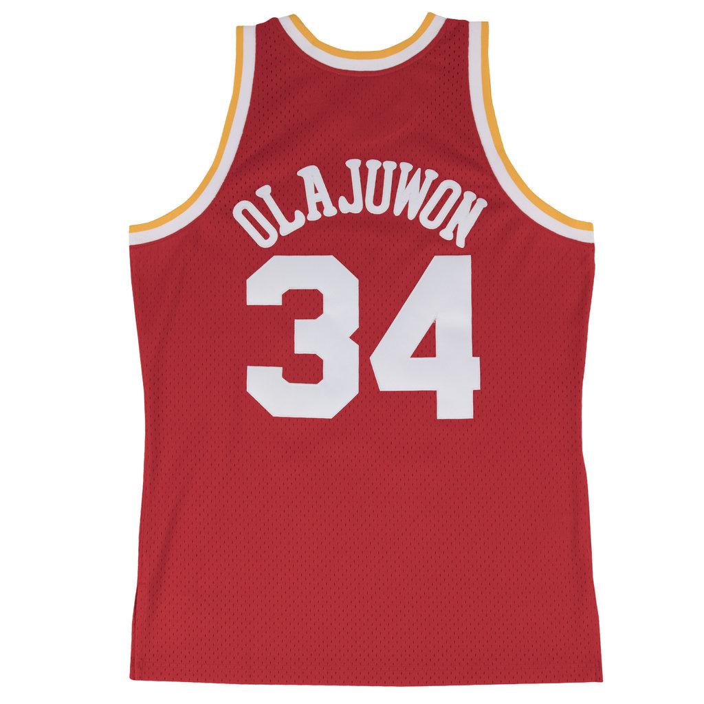 Houston Rockets Mitchell And Ness: Camiseta Hakeem Olajuwon. Houston Rockets. Swingman