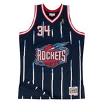 Camiseta Hakeem Olajuwon. Houston Rockets. Navy. Swingman. Mitchell and Ness