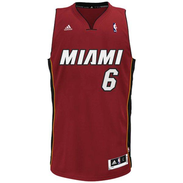 b3f00d88e Camiseta Miami Heat. Lebron James. Roja NBA Basketspirit