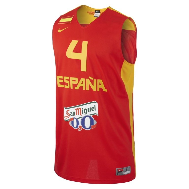 limpiar inventar Alianza  Camiseta España Pau Gasol Réplica - BASKETSPIRIT.COM