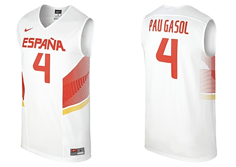 acd4d10c57e Camiseta Nike Replica España 2014 blanca. Pau Gasol.