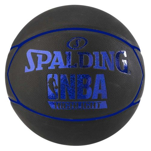 Balón Spalding NBA Highlight outdoor. Goma. Negro y azul