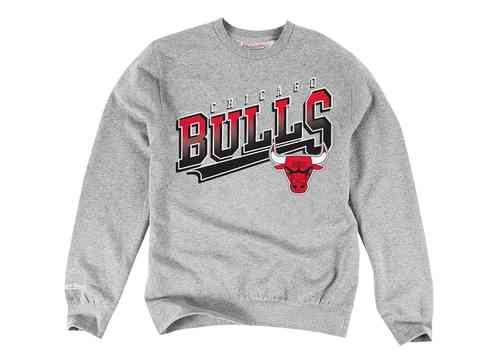 Sudadera Chicago Bulls gris. Mitchell and Ness.