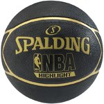 Balón Spalding NBA Highlight outdoor. Goma. Black Gold