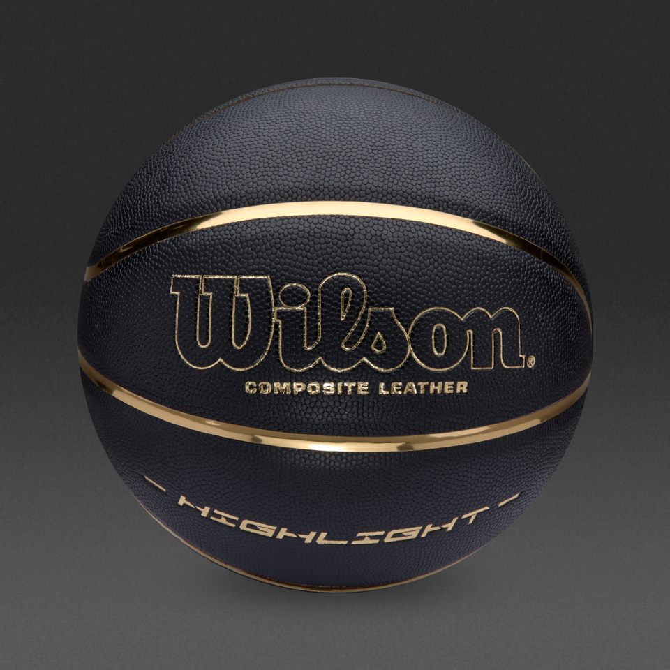 f52c598e1b Balon Wilson Highlight composite black and gold. Talla 7