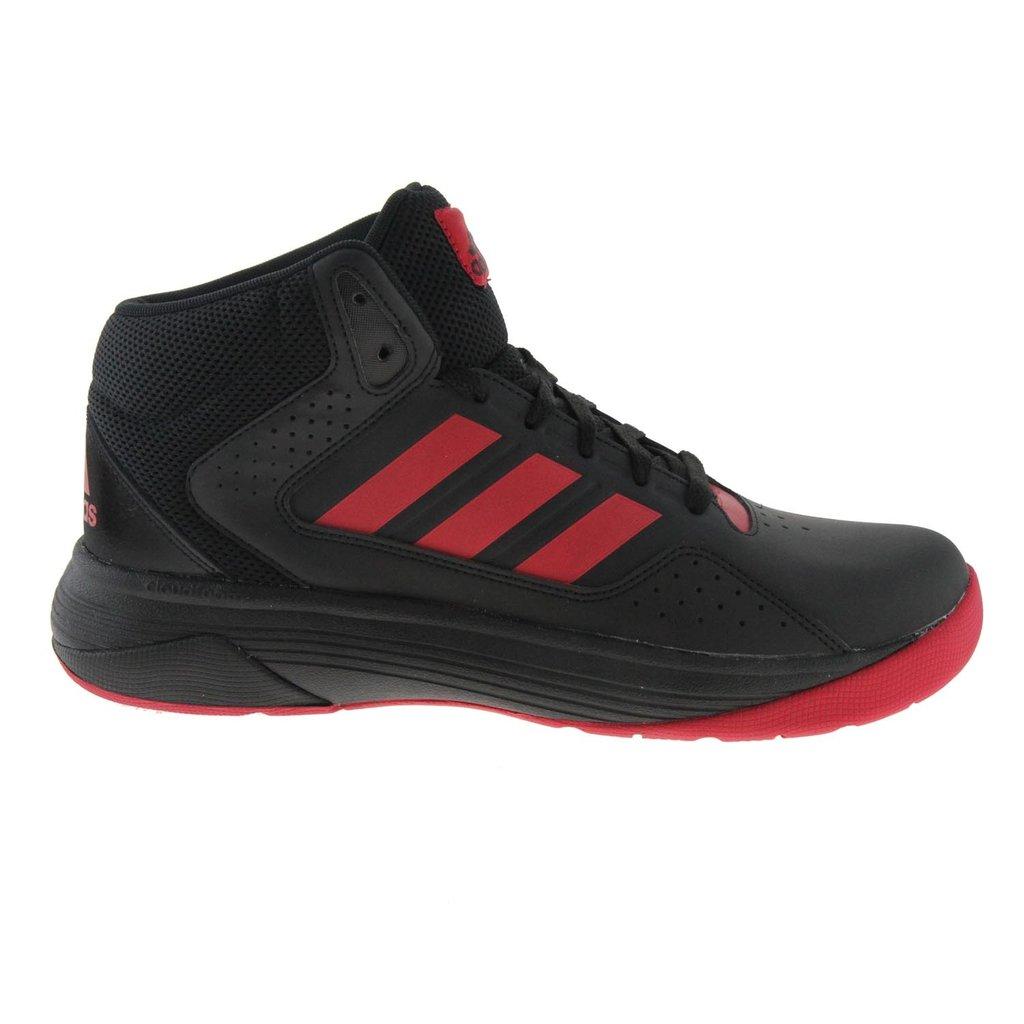 Zapatilla baloncesto Adidas Cloudfoam mid. Negra y Roja ... ba0e6bb29ef85