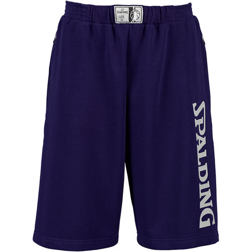 Pantalón Spalding team short navy-silver grey