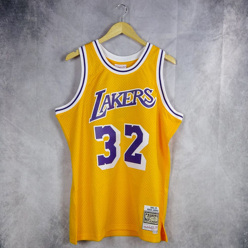 Camiseta Magic Johnson. Los Angeles Lakers.#32. amarilla. Hardwood Classics. Amarilla. Swingman