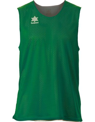 Camiseta Luanvi reversible triple verde/blanco