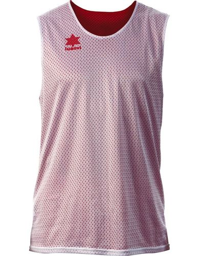 Camiseta Luanvi reversible triple blanco/rojo