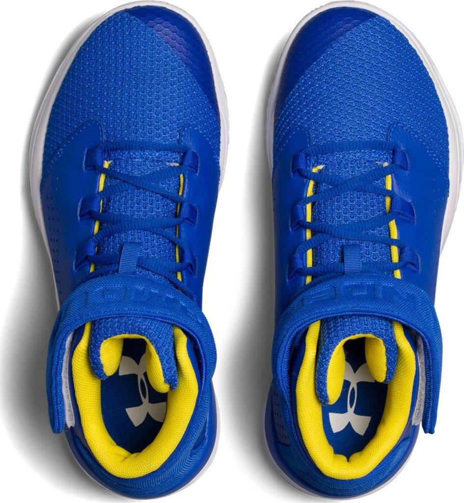 Treinta rompecabezas taquigrafía  Zapatilla baloncesto niño azul. Under Armour. Get B Zee - BASKETSPIRIT.COM