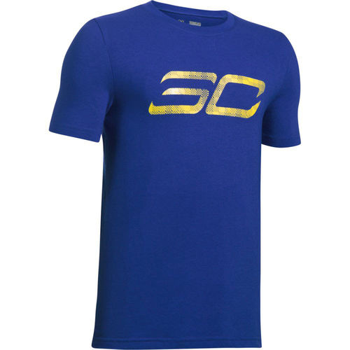 Camiseta niño SC30 Logo SS Under Armour. Azul