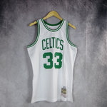 Camiseta Larry Bird. Boston Celtics Blanco. Hardwood Classics