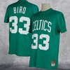 Camiseta Larry Bird. Boston Celtics. #33. NBA. Hardwood Classics manga corta. verde