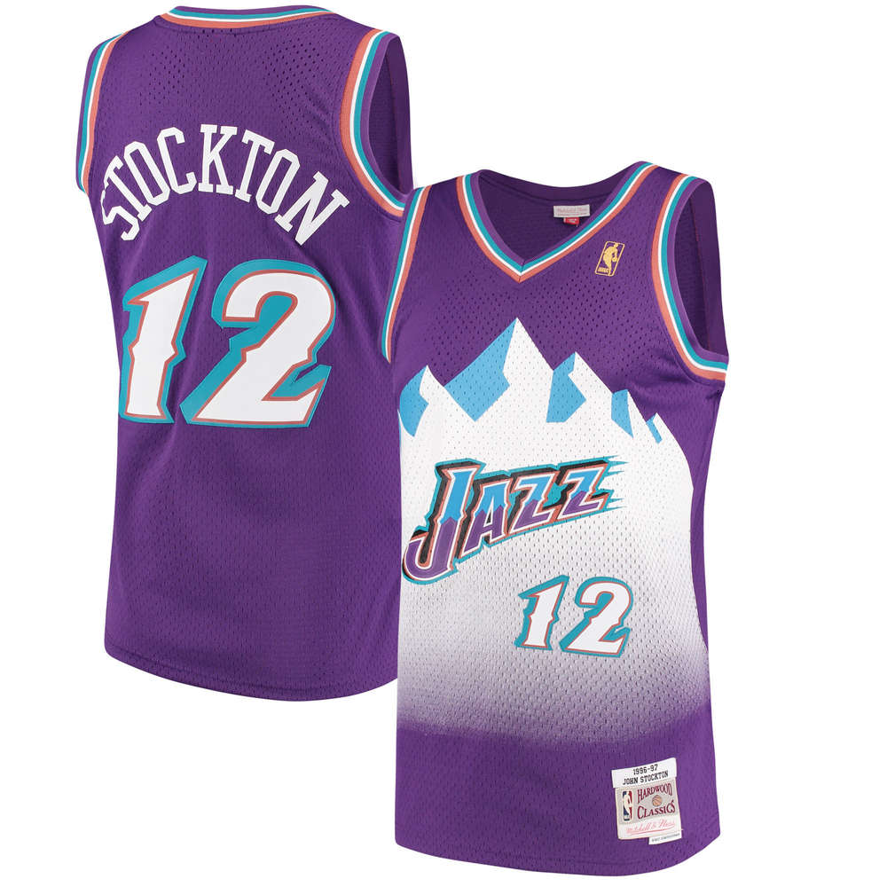 01bc4804 John Stockton. Utah Jazz.Swingman. Mitchell and Ness. Hardwood Classics.