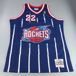 Camiseta Clyde Drexler. Houston Rockets. Hardwood Classics