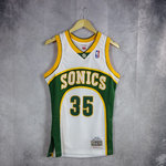 Camiseta Kevin Duran. Seattle SuperSonics. Swingman. Hardwood Classics. Blanca