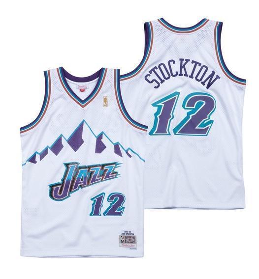 timeless design eb163 b51f2 John Stockton. Utah Jazz.Swingman. Hardwood Classics. blanco
