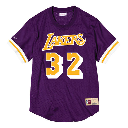 Magic Johnson Angeles. Angeles Lakers. Manga corta mesh