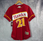 Dominique Wilkins. Atlanta Hawks. Camiseta mesh manga corta NBA