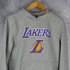 Sudadera con capucha. Los Angeles Lakers NBA. New Era. Gris
