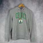 Sudadera con capucha. Boston Celtics NBA. New Era. Gris