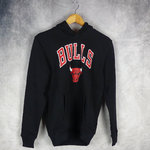 Sudadera con capucha.Chicago Bulls NBA. New Era. Negra