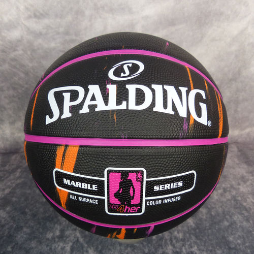 74bd9b2930 Balón Spalding NBA marble 4Her negro rosa naranja. Talla 6