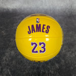 Mini balón Lebron James. Ángeles Lakers. NBA. Talla1.5. Spalding