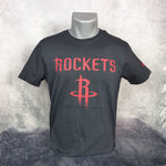 Camiseta Houston Rockets NBA. Negra. Manga corta. New Era