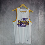 Camiseta Los Ángeles Lakers NBA. Blanca. Double Logo Tank