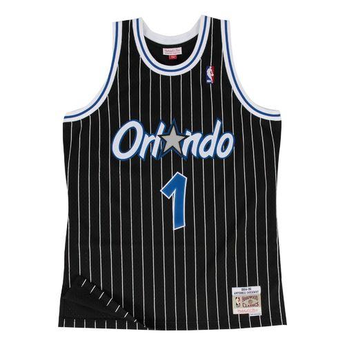 bb78a373f Camiseta Anfernee Hardaway.Orlando Magic. Negra. Swingman. Hardwood Classics