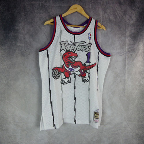 Camiseta Tracy McGrady. Toronto Raptors. Blanca. Swingman. Hardwood Classics