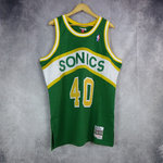 Camiseta Shawn Kemp.Seattle Supersonics.Swingman.Hardwood Classics