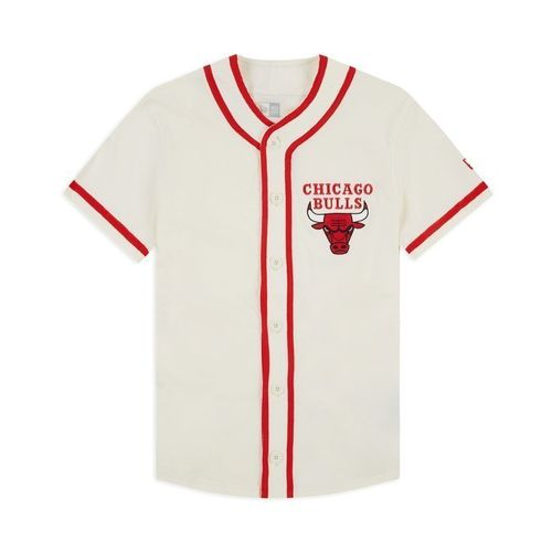 Camiseta Chicago Bulls NBA. Pipping button up. New Era