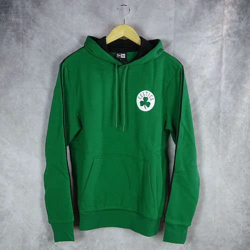 Sudadera con capucha. Boston Celtics NBA. Stripe Piping. New Era. Verde