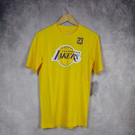 Camiseta manga corta Lebron James. Los Ángeles Lakers. NBA. Amarilla. Outer Stuff