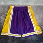 Pantalones cortos Angeles Lakers. 1984-85. Morados. Swingman. Hardwood Classics.