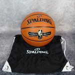 Balón Spalding NBA Platinum Precision indoor y bolsa malla Spalding. Pack exclusivo Basketspirit